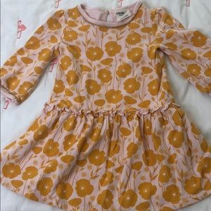 Adorable fall sweatshirt dress w gold trim! 4T